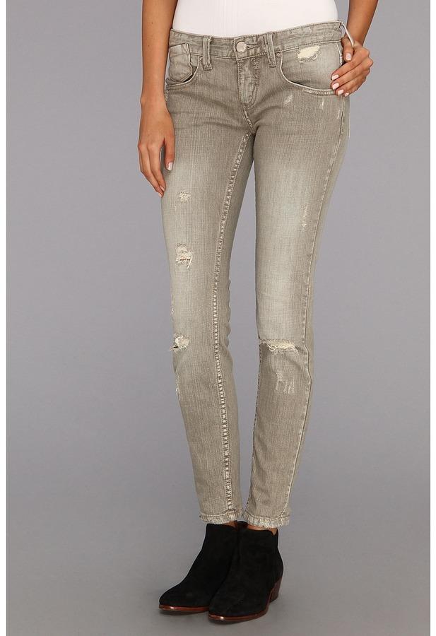 Free People Meg's Denim Destroyed Relaxed Skinny Jean (Copenhagen) - Apparel