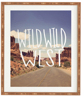 DENY Designs Wild Wild West by Leah Flores (Framed)