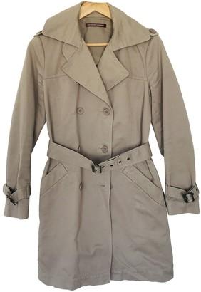 Comptoir des Cotonniers Anthracite Cotton Trench Coat for Women