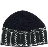 Lanvin patterned beanie hat - men - Wool - One Size