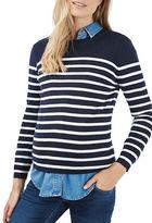 Topshop MATERNITY Stripe Zip Back Sweater