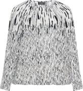Via Appia Plus Size Printed long sleeve blouse