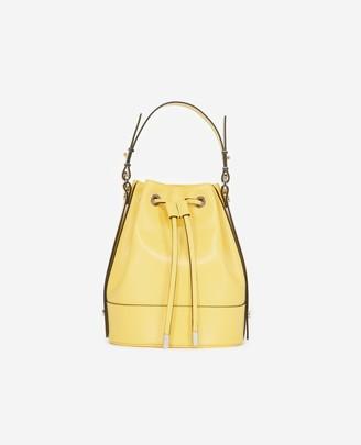 The Kooples Medium Tina bag in smooth yellow leather