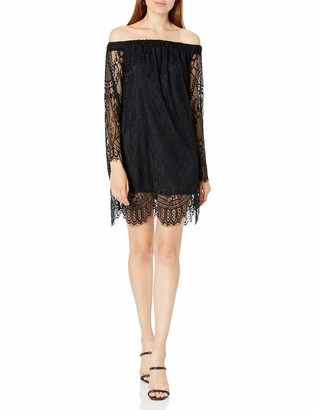 Love, Fire Love Fire Women's Lace Off The Shoulder Bell Sleeve Dress