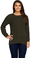 Denim & Co. Shaker Stitch Long Sleeve Pull-Over Sweater