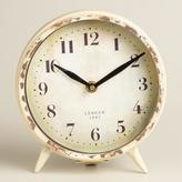 Cost Plus World Market Small Ivory Charlie Clock