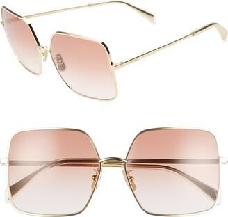 Celine 60mm Gradient Square Sunglasses