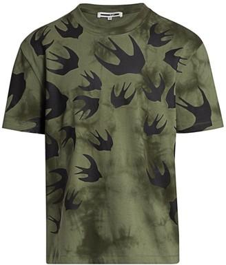 McQ Two-Tone Military Graphic T-Shirt