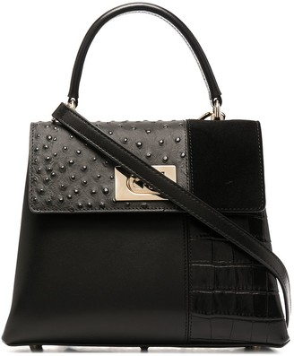 Furla Mixed Leather Pattern Tote