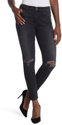 Current/Elliott The Stiletto Distressed Knee Jeans