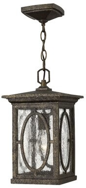 Randolph 1-Light Outdoor Hanging Lantern Hinkley Finish: Black, Bulb Type: 100W Medium Base Bulb