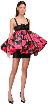 Richard Quinn Puff Ball Printed Duchesse Mini Dress