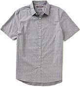 Michael Kors Blaine Printed Pleated Short-Sleeve Woven Shirt