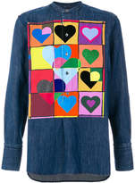 J.W.Anderson heart patch denim shirt
