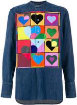 J.W.Anderson heart patch denim shirt
