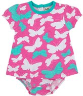 Hatley One Piece Dress (Baby) - Graphic Butterflies-3-6 Months