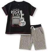 Kids Headquarters Little Boys Rock Star Tee and Shorts Set