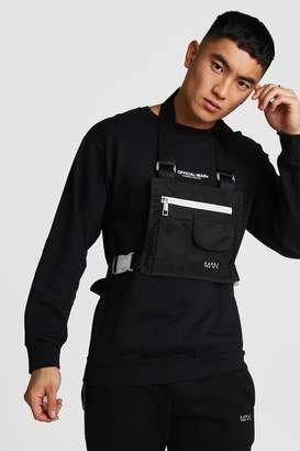 boohoo Flat Overall Chest Rig