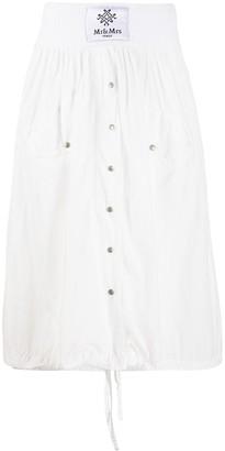 Mr & Mrs Italy Pleated Midi Skirt