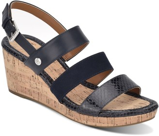 Bandolino Adjustable Cork Wedges - Talene