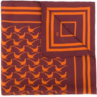 Holland & Holland Bird-Print Silk Scarf