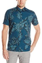 Ted Baker Men's Short Sleeve Large Scale Floral Shirt