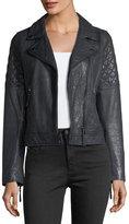 AG Adriano Goldschmied Larissa Lamb Leather Moto Jacket
