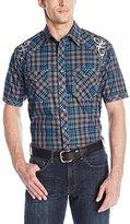 Wrangler Men's Rock 47 Short Sleeve Woven Button Shirt