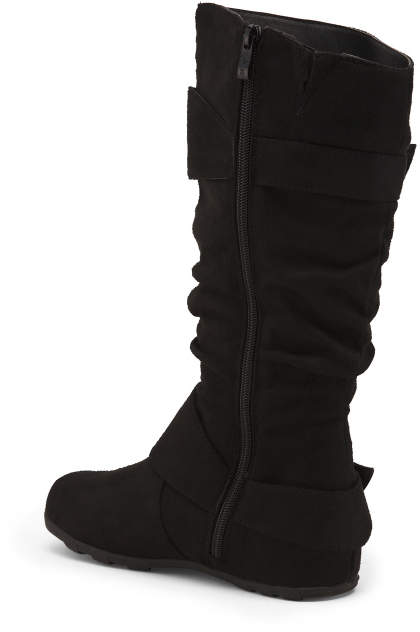Slouchy Double Buckle Boots