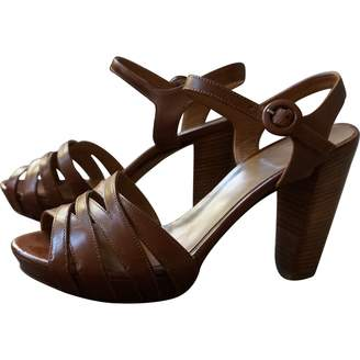 Fratelli Rossetti Camel Leather Sandals