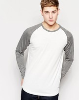 Jack and Jones Contrast Raglan Long Sleeve Top