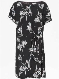 Great Plains Sweet Blush Multi Camilla Tie Dress - 12 - Black/Pink