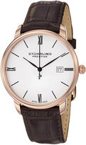 Stuhrling Original Sthrling Original Mens Brown Leather Strap Watch
