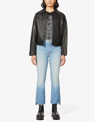 Mother The Insider Crop straight mid-rise jeans