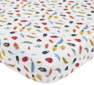 NoJo Aztec Forest 100% Cotton Feather Print Crib Sheet