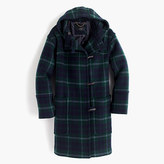 J.Crew Hooded toggle coat in plaid