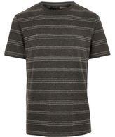 River Island MensGrey marl stripe print jacquard T-shirt