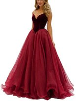 GeSen Simple Prom Dresses 2016 Tulle Plus Size Evening Gown US
