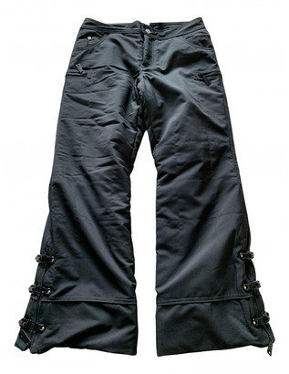 Christian Dior Black Polyester Trousers