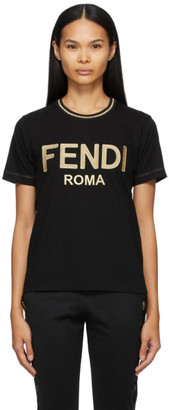 Fendi Black Jersey T-shirt