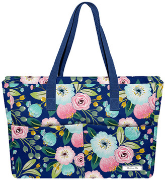 Millie Loves Lily Totebags Famous - Navy Famous Floral Tote