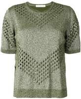 Golden Goose Deluxe Brand lurex perforated top