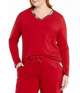 Sleep Sense Plus Flannel-Trimmed Jersey Sleep Top