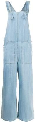 Sjyp loose-fit denim overalls