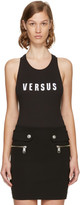 Versus Black Embroidered Logo Bodysuit