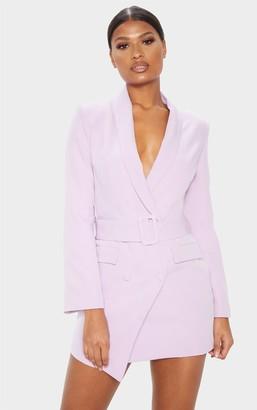 UNIQUE21 Dusty Lilac Belt Blazer Dress