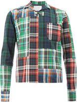 Kolor plaid patchwork shirt jacket