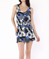Black & Blue Abstract Romper