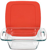 Pyrex Easy Grab Square Glass Baking Dish with Plastic Cover