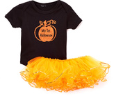 Beary Basics Black 'My 1st Halloween' Bodysuit & Orange Tutu - Infant